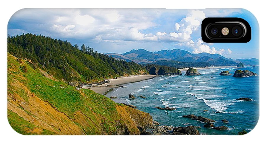 Cannon Beach IPhone X Case featuring the photograph Seaside by Mark Lemon