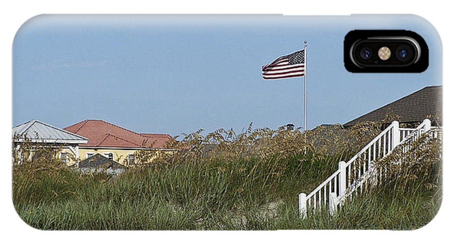 Ocean IPhone X Case featuring the photograph Seaside Patriotism by Teresa Mucha