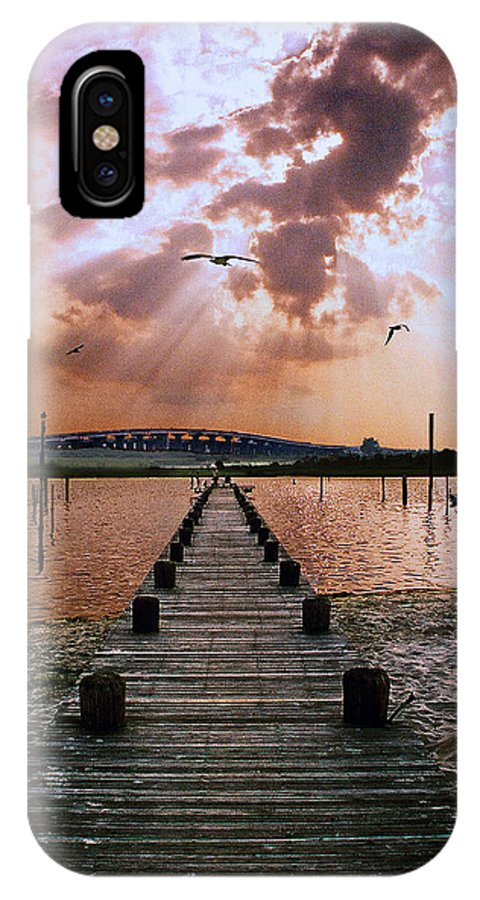 Seascape IPhone X Case featuring the photograph Seaside by Steve Karol