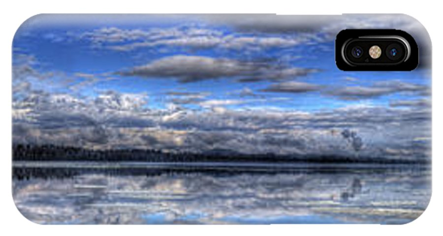 Landscape IPhone X Case featuring the photograph Seasons Panorama by Lee Santa