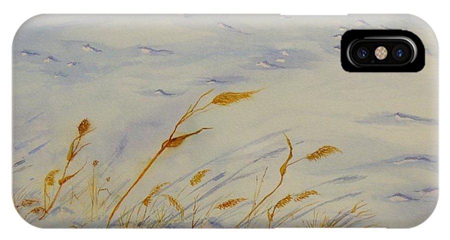 Snow IPhone Case featuring the painting Seasons Past by Peggy King