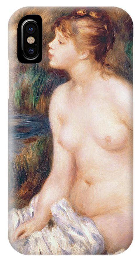Seated IPhone X Case featuring the painting Seated Female Nude by Renoir