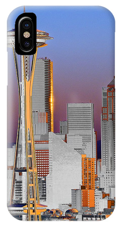 Seattle IPhone Case featuring the photograph Seattle Architecture by Larry Keahey