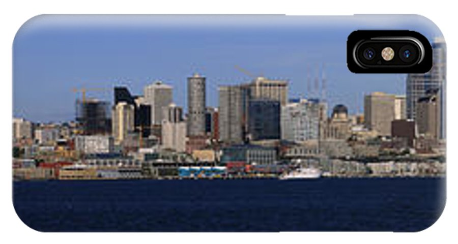 3scape IPhone X Case featuring the photograph Seattle Panoramic by Adam Romanowicz