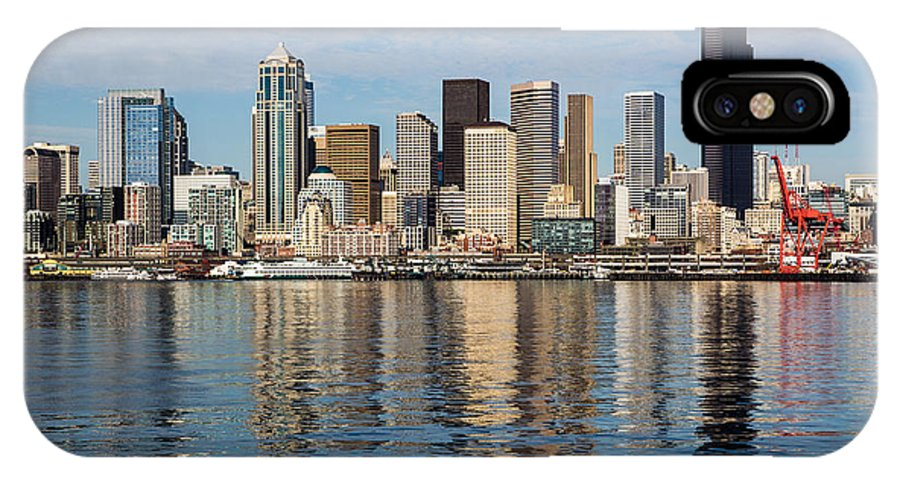 Seattle IPhone X Case featuring the photograph Seattle Reflection by Suzanne Luft
