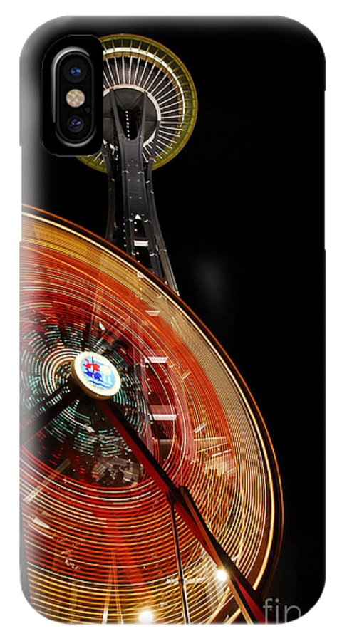 Seattle IPhone X Case featuring the photograph Seattlelights by David Lee Thompson