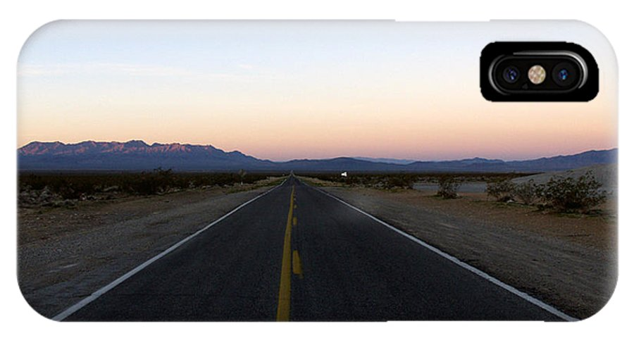 Road IPhone X Case featuring the photograph Secluded Sunrise by Kelvin Booker