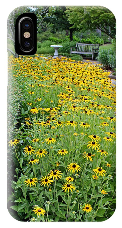 Garden IPhone X Case featuring the photograph Secret Garden by Judy Vincent