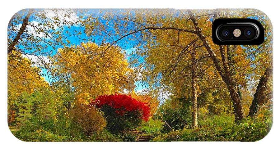 St Louis Missouri IPhone X Case featuring the photograph Secret Path At Lafayette Park Landscape by Debbie Fenelon