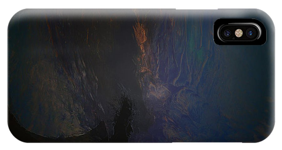 Woman Girl Lady Mysterious Mystery Sanctuary Trees Water Land Cave Abstract Secret Place IPhone X Case featuring the photograph Secret Place by Andrea Lawrence