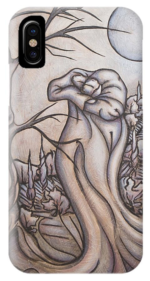 Dream. Moon IPhone Case featuring the painting Secrets And Dreams by Judy Henninger