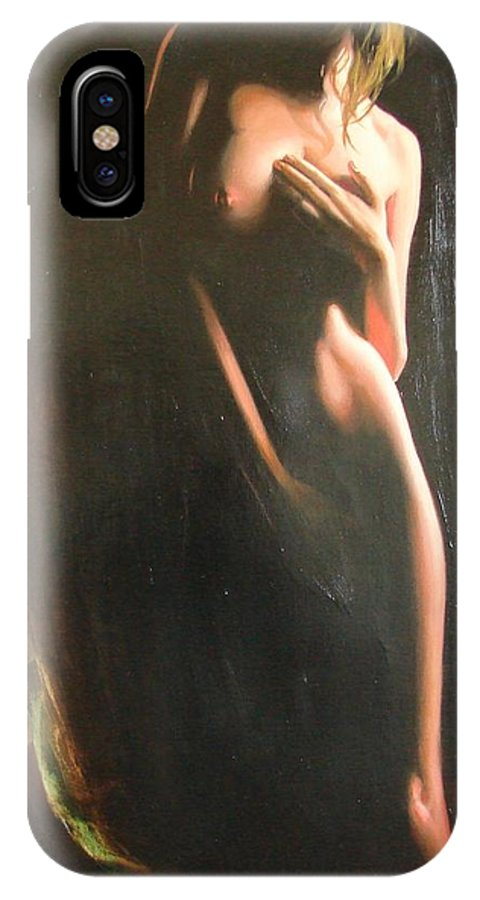 Art IPhone X Case featuring the painting Secrets by Sergey Ignatenko