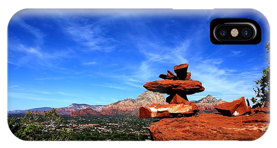 Photograph IPhone X Case featuring the photograph Sedona Airport Vortex by The Art With A Heart By Charlotte Phillips