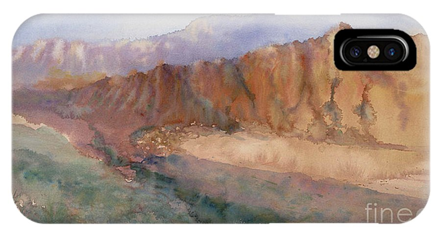 Sedopn IPhone X Case featuring the painting Sedona by Ann Cockerill