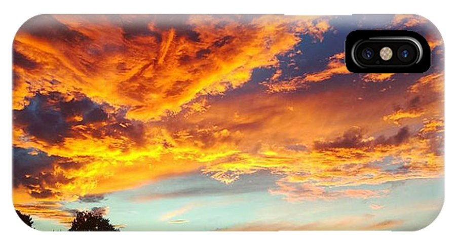 Life IPhone X Case featuring the digital art Sedona by Kristina Gerth