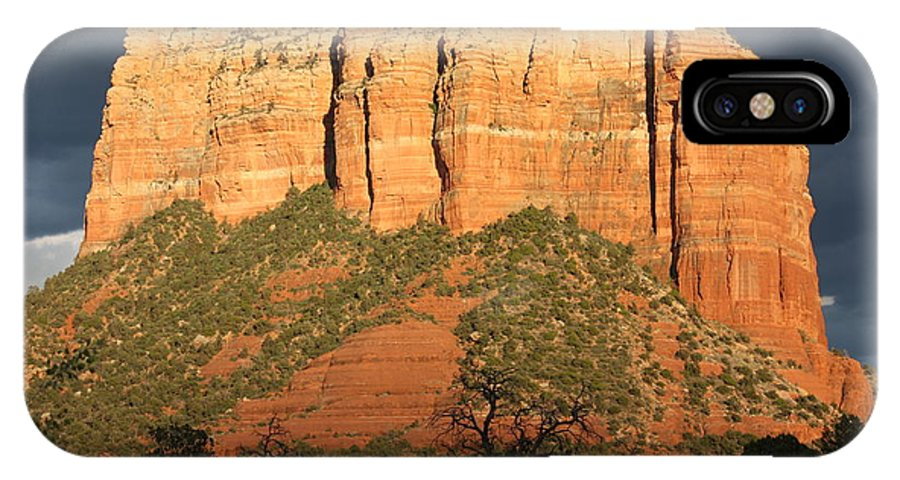 Sedona IPhone X Case featuring the photograph Sedona Sandstone Standout by Carol Groenen