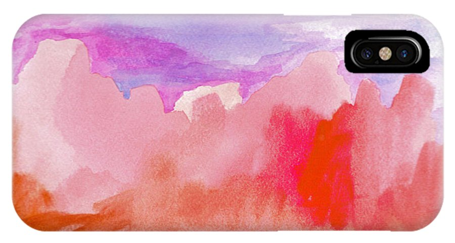 Purple IPhone X Case featuring the painting Sedona Sky by Vicki Lynn Sodora
