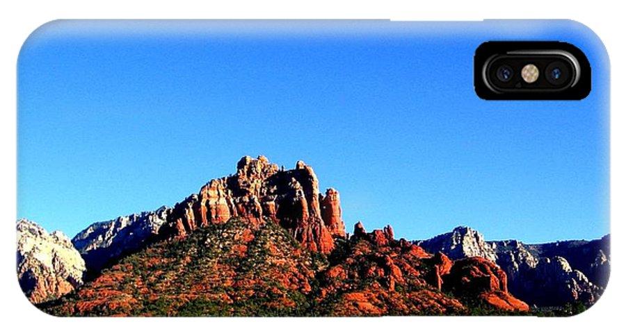 Sedona IPhone X Case featuring the photograph Sedona Snoopy Rock by Michelle Dallocchio