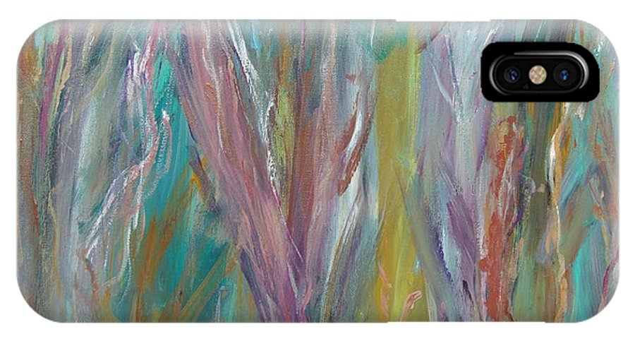 Forest IPhone X Case featuring the painting See The Woods For The Trees by Max Bowermeister