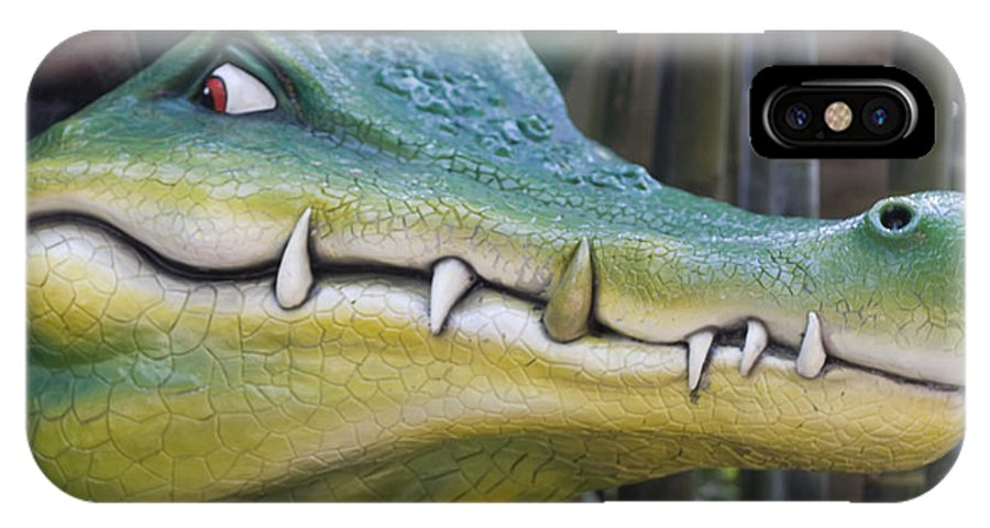 Alligator IPhone X Case featuring the photograph See You Later Alligator by Carl Purcell