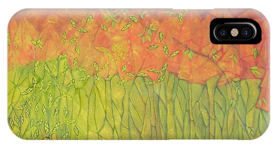 Abstract Spiritual IPhone X Case featuring the painting Seeds Of Creation by Neena Alapatt