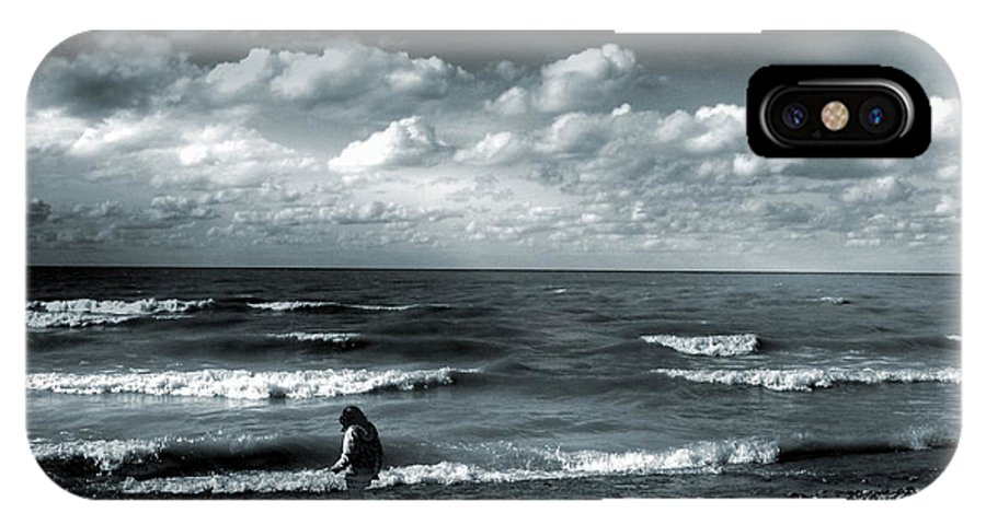 Beach IPhone X Case featuring the photograph Seeing With A Child's Wonder by Abstract Angel Artist Stephen K