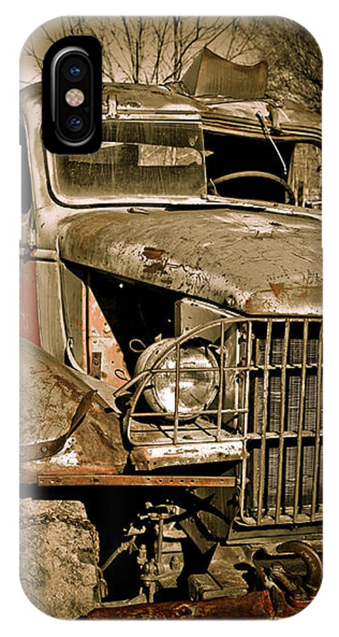 Old Vintage Antique Truck Worn Western IPhone X Case featuring the photograph Seen Better Days by Marilyn Hunt