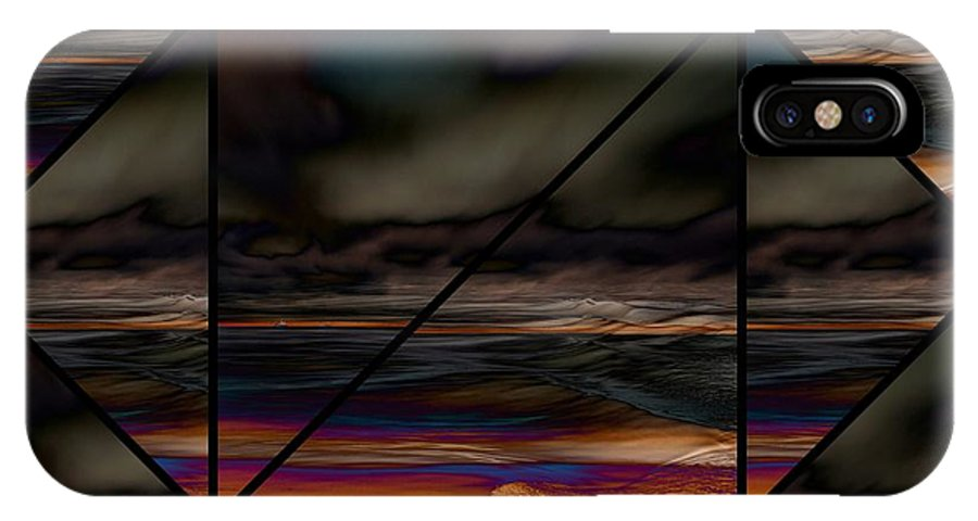 Impressions IPhone X Case featuring the digital art Seesee by Karo Evans