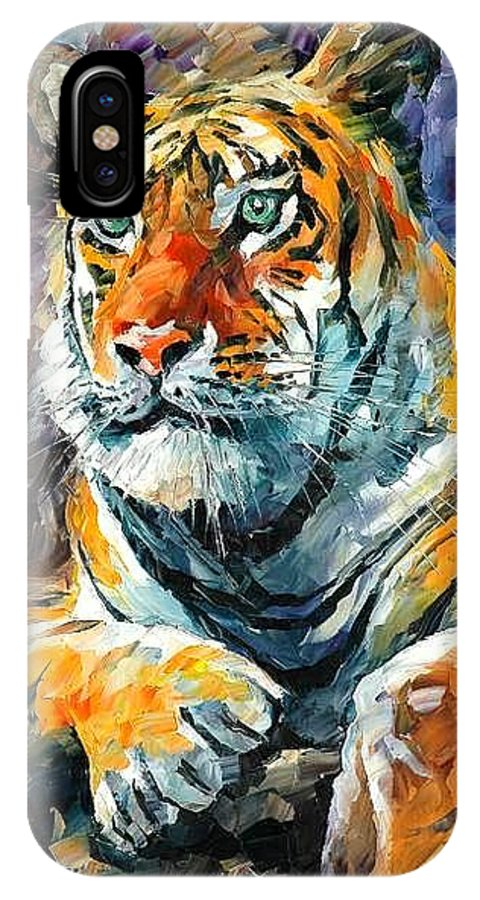 Painting IPhone Case featuring the painting Seibirian Tiger by Leonid Afremov