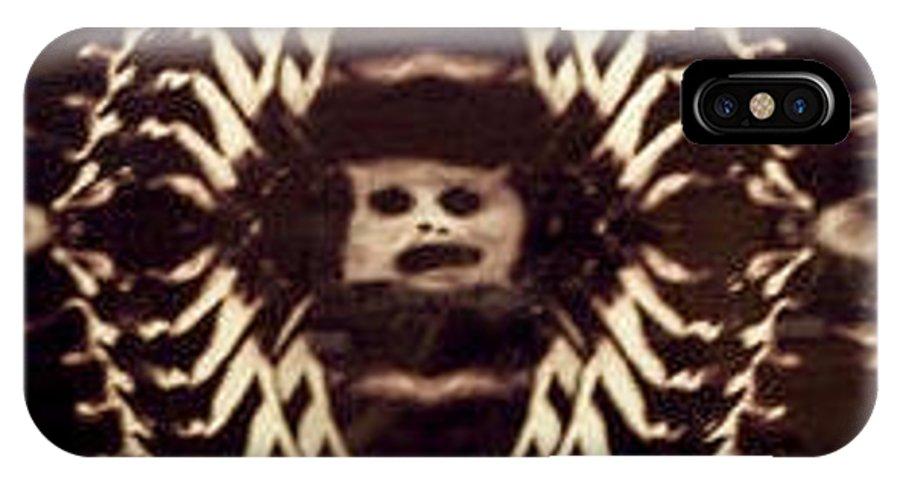 Dark IPhone X Case featuring the digital art Self Or Framed Portrait by Steve Spagnola