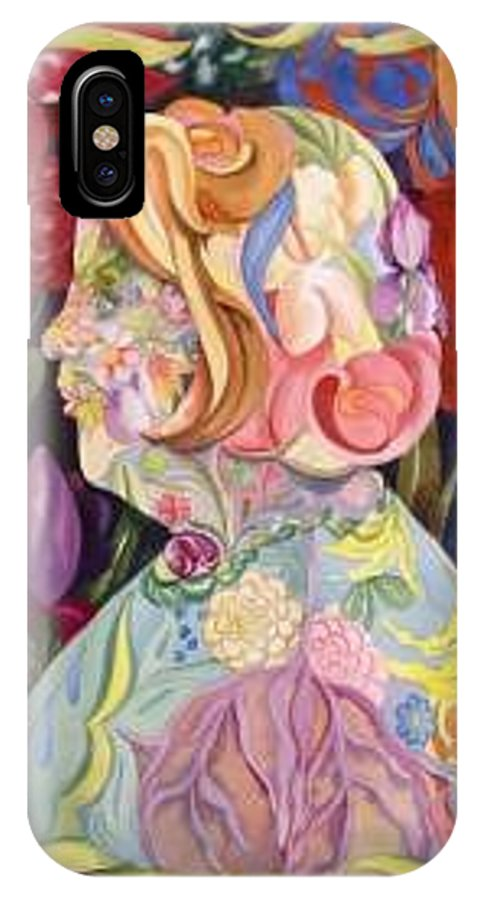 Portrait IPhone X Case featuring the painting Self Portrait by Marlene Gremillion