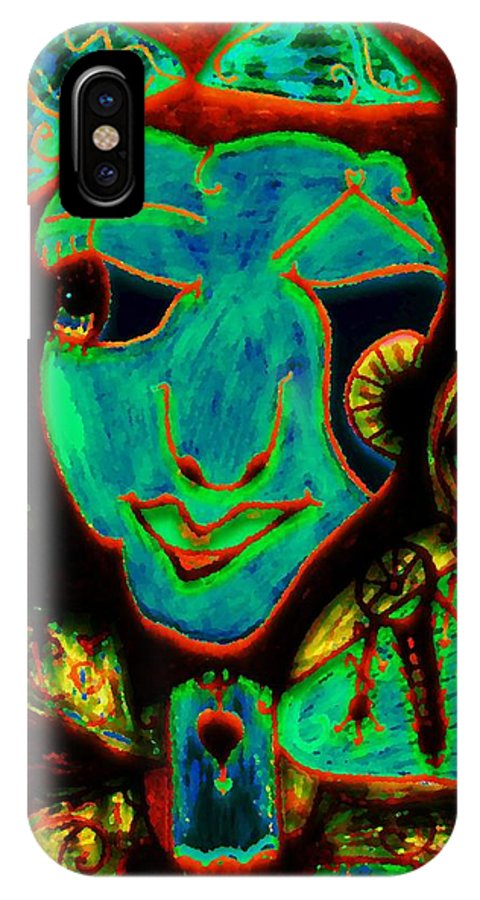 Fantasy IPhone X Case featuring the painting Self Portrait by Natalie Holland