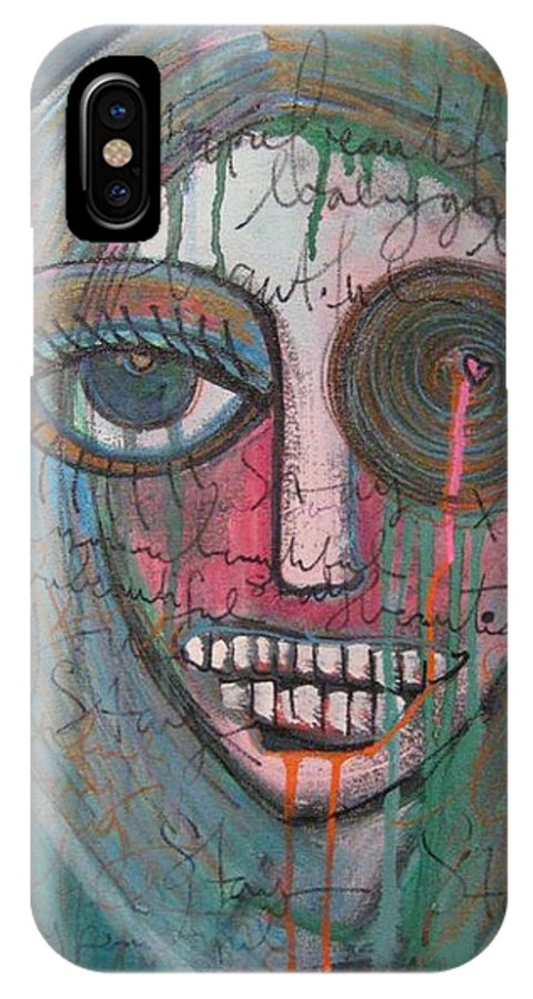 Self Portraits IPhone Case featuring the painting Self Portrait Youre Beautiful by Laurie Maves ART