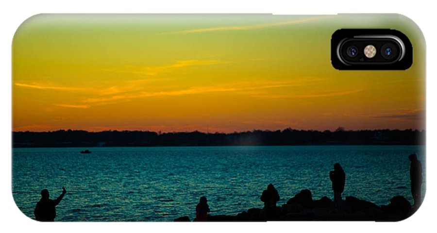 Selfie IPhone X Case featuring the photograph Selfie Sunset by Robert Rotkowitz