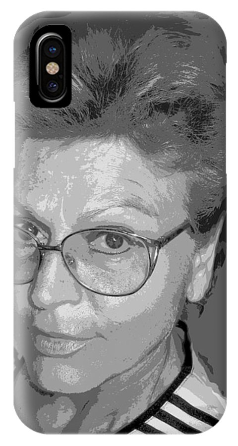 Self Portrait IPhone X Case featuring the photograph selfportrait III by Dragica Micki Fortuna