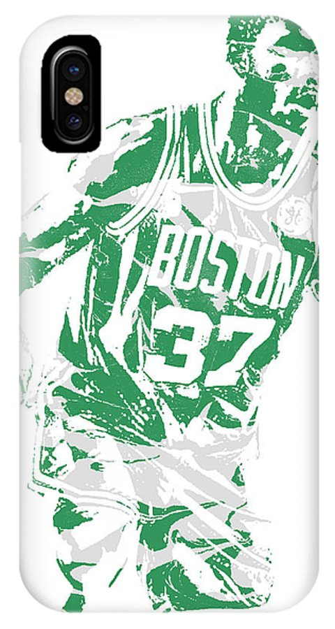 Semi Ojeleye IPhone X Case featuring the mixed media Semi Ojeleye Boston Celtics Pixel Art 2 by Joe Hamilton