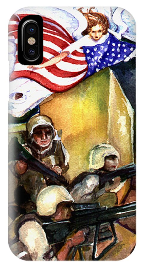 Elle Fagan IPhone X Case featuring the painting Semper Fideles - Iraq by Elle Smith Fagan