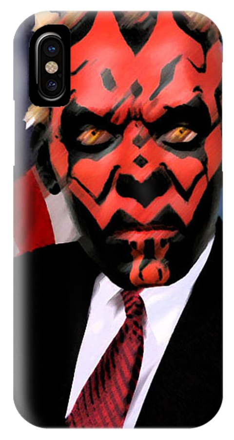 Star Wars IPhone X Case featuring the digital art Senator Darth Maul by Eric Forster