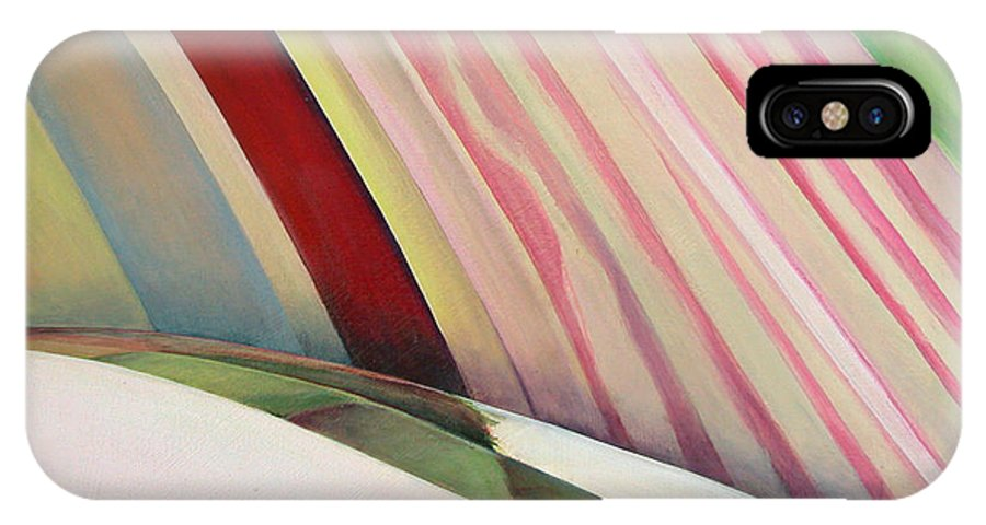 Abstract IPhone Case featuring the painting Sens 1 by Muriel Dolemieux