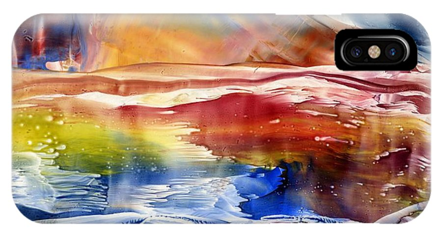Colors IPhone X Case featuring the painting Sensations by Eileen Fong