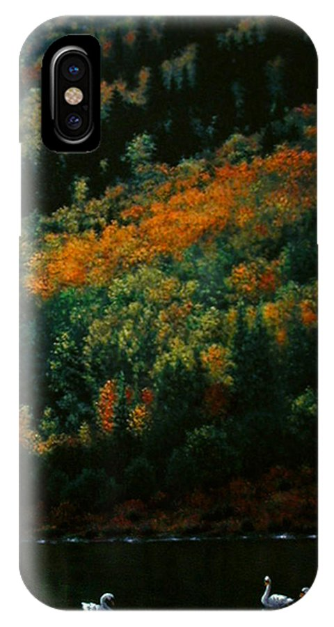 Scenic IPhone X / XS Case featuring the painting Sentinels Of September Serenity by Stephen Lucas