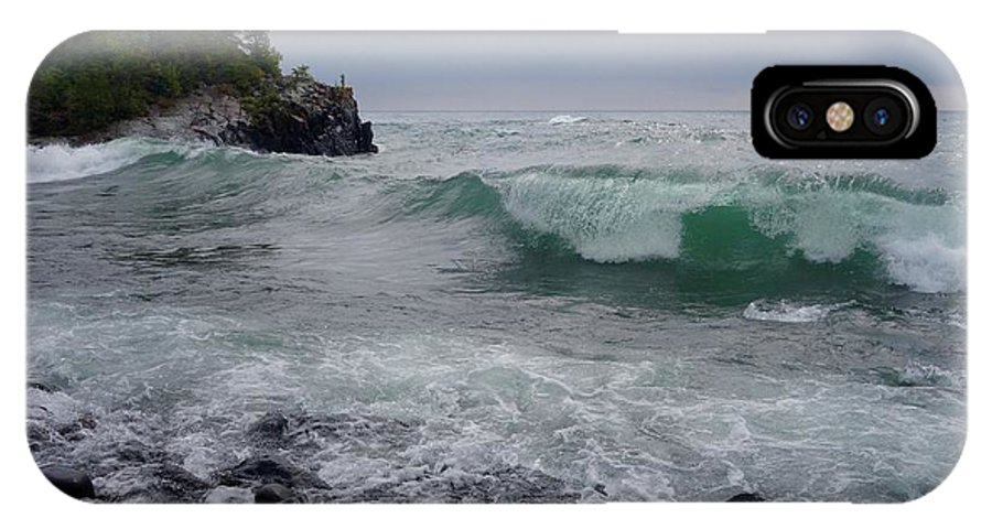 Lake Superior IPhone X Case featuring the photograph September Storm #4 by Sandra Updyke