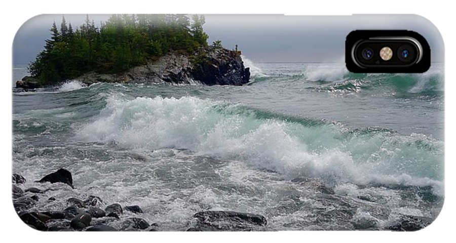 Lake Superior IPhone X Case featuring the photograph September Storm by Sandra Updyke