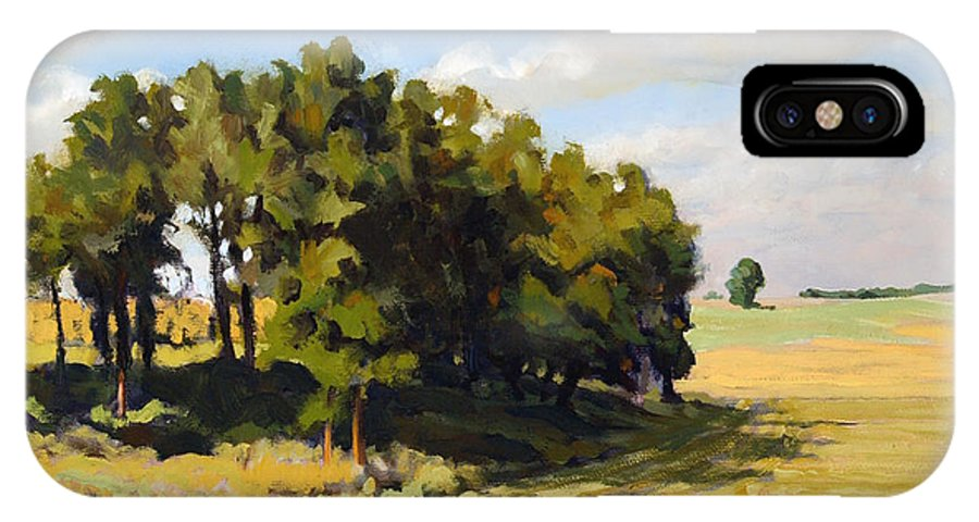 Landscape IPhone X Case featuring the painting September Summer by Bruce Morrison