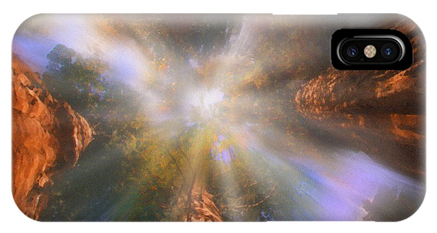 Sequoia IPhone X Case featuring the painting Sequoia by Robby Donaghey