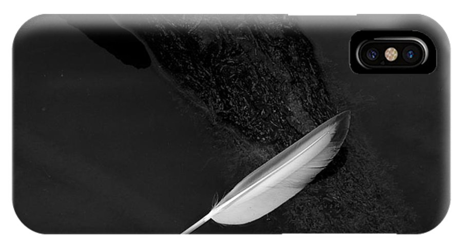 Feather IPhone X Case featuring the photograph Serene Detail by Daniel Casey