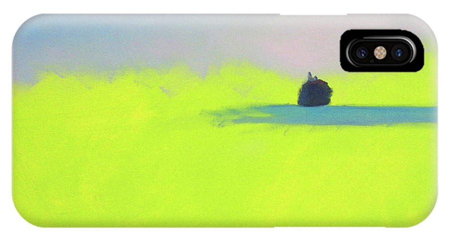 Art IPhone X Case featuring the painting Serene by Jeanette French