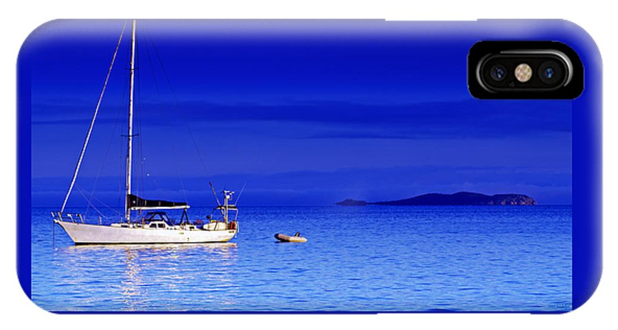 Transportation. Boats IPhone Case featuring the photograph Serene Seas by Holly Kempe
