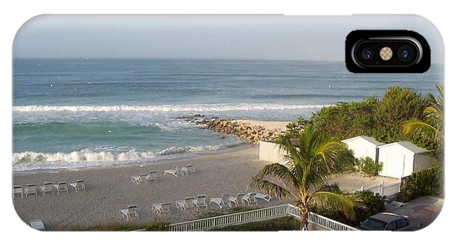 Beach IPhone X Case featuring the photograph Serene Sojourn by Vicki Lynn Sodora