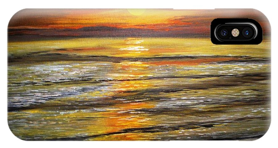 Serenity IPhone X Case featuring the painting Serenity by Dawn Hawkins